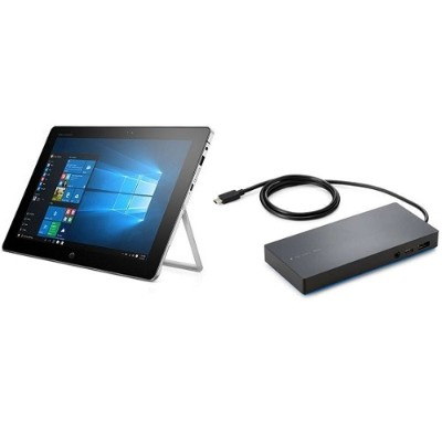 HP Inc. T8Z05UT#ABA-KIT Smart Buy Elite x2 1012 G1 Intel Core M5-6Y54 Dual-Core 1.10GHz Tablet PC with HP Elite USB-C Docking Station - 8GB RAM  256GB SSD  12 L