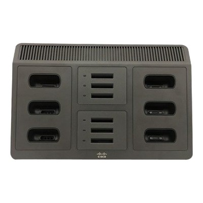 Cisco CP-MCHGR-8821-BUN Multi-Charger - Phone charging stand / battery charger + power adapter - 12 output connectors