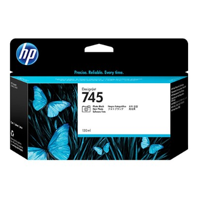 HP Inc. F9J98A 745 - 130 ml - photo black - original - DesignJet - ink cartridge - for DesignJet Z2600 PostScript  Z5600 PostScript