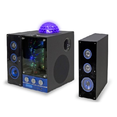 Technical Pro BLUET500 3 Speaker BT Party Light System with FM Radio and LED Show
