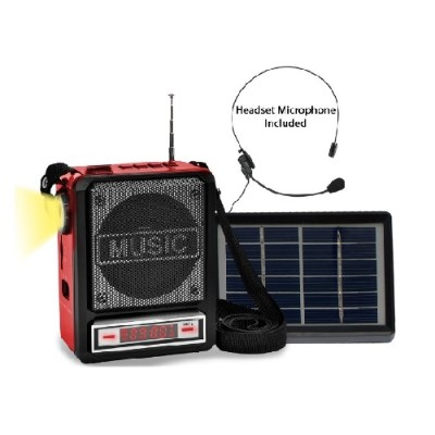 Technical Pro WASPSOLAR100 Solar PRechargeableÿBT Speaker with Headset Mic and Light