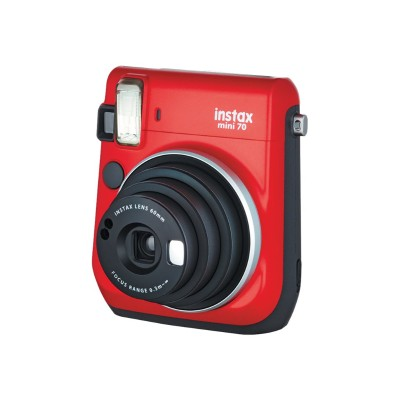 Fujifilm 16513918 Instax Mini 70 - Instant camera - lens: 60 mm - passion red