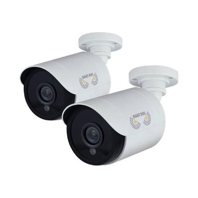 Night Owl Security Products CAM-2PK-HDA10W-BU Night Owl CAM-2PK-HDA10W-BU - CCTV camera - outdoor - vandal / weatherproof - color (Day&Night) - 2 MP - 1920 x 10