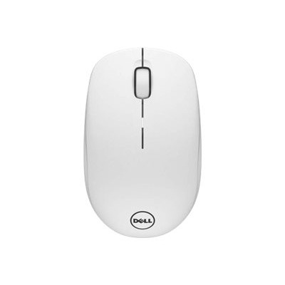 Dell WM126-WH WM126 - Mouse - optical - 3 buttons - wireless - 2.4 GHz - USB wireless receiver - white - for Chromebook 11 31XX  13 3380  Inspiron 15 3567  Lati