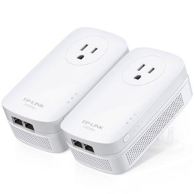 TP-Link TL-PA9020P KIT Powerline AV2000 - Starter Kit - bridge - GigE  HomePlug AV (HPAV)  HomePlug AV (HPAV) 2.0  IEEE 1901 - wall-pluggable (pack of 2)