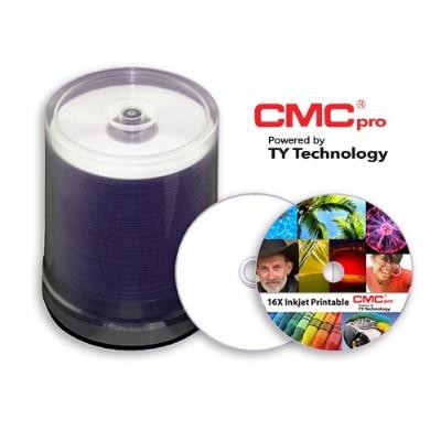 Microboards T-DMR-SPP-SK16 CMC Pro 4.7GB  16X  Silver Inkjet (Hub Printable)  100 Disc Tape Wrap