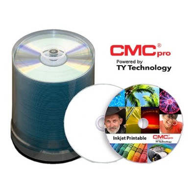 Microboards T-CDR-WPP-SK CMC Pro  48X  CD-R  White Inkjet Printable  (Hub Printable)  100 Disc Tape Wrap