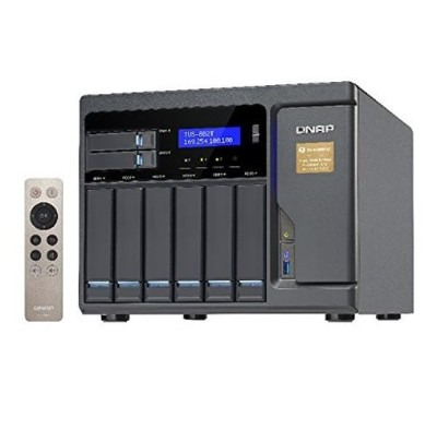 QNAP TVS-882T-i5-16G-US 8 Bay Thunderbolt 2 Das/NAS/iSCSI Ip-San Solution  Intel Core i5 3.6GHz Quad Core