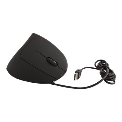 Urban Factory EMR04UF Ergonomic New Ergo Mouse - Mouse - optical - 6 buttons - wired - USB - black