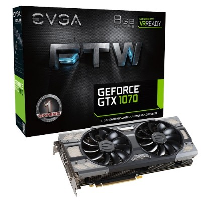 Evga 08G-P4-6276-KR GeForce GTX 1070 FTW Gaming ACX 3.0 - Graphics card - GF GTX 1070 - 8 GB GDDR5 - PCIe 3.0 x16 - DVI  HDMI  3 x DisplayPort