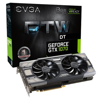 Evga 08G-P4-6274-KR GeForce GTX 1070 FTW DT Gaming ACX 3.0 - Graphics card - GF GTX 1070 - 8 GB GDDR5 - PCIe 3.0 x16 - DVI  HDMI  3 x DisplayPort