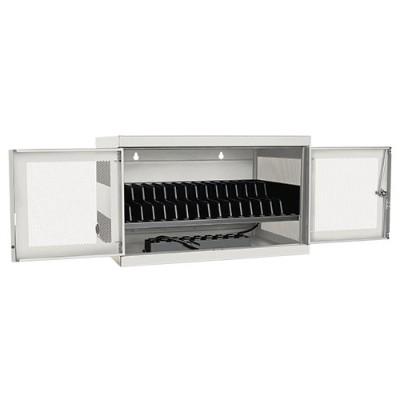 TrippLite CSC16ACW 16-Port AC Charging Cart Storage Station Chromebook Laptop White