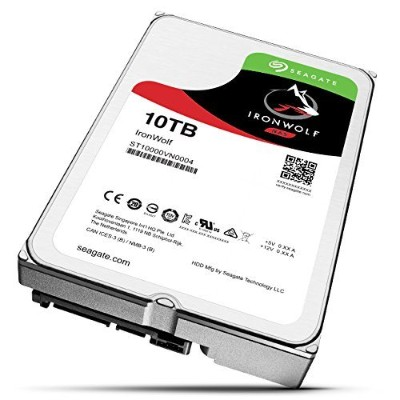 Seagate ST10000VN0004 10TB Ironwolf NAS SATA 6GB/s NCQ 64MB Cache 3.5 Internal Bare Drive