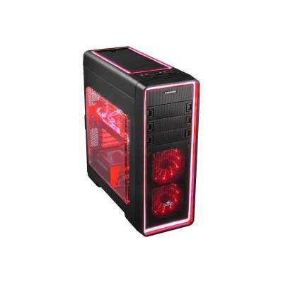 Enermax ECA3380AS-R Ostrog ADV ECA3380AS-R - Tower - ATX - no power supply - black - USB/Audio