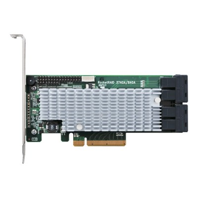 High Point Technologies RR3740A RocketRAID 3740A - Storage controller (RAID) - 16 Channel - SATA 6Gb/s / SAS 12Gb/s low profile - 1200 MBps - RAID 0  1  5  6  1