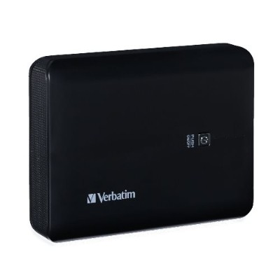 Verbatim 99208 Dual USB Power Pack - Power bank Li-pol 10400 mAh - 2.1 A - black 40193774