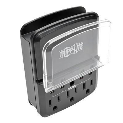 TrippLite SK34USBB 4-Port Wallmount USB Charging Station w 3 Outlet Surge Protector