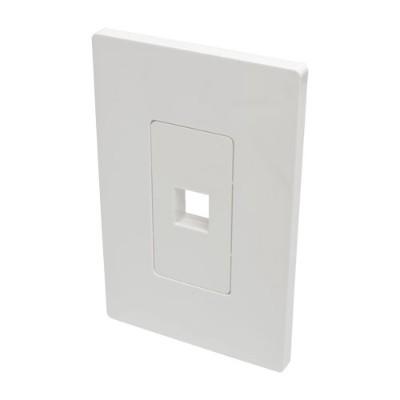 TrippLite N080-101 Single-Gang 1-Port Wall Plate Keystone Cat5/6 USB HDMI Dport RCA