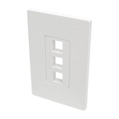 TrippLite N080-103 Single-Gang 3-Port Wall Plate Keystone Cat5/6 USB HDMI Dport RCA