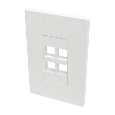 TrippLite N080-104 Single-Gang 4-Port Wall Plate Keystone Cat5/6 USB HDMI Dport RCA