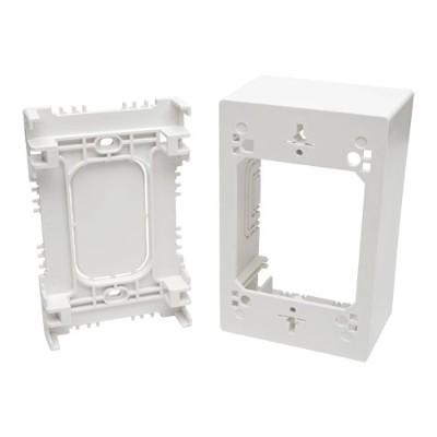 TrippLite N080-SMB1-WH Single-Gang Surface-Mount Junction Box Wallplate White