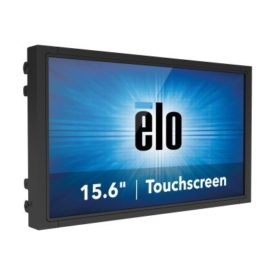 ELO Touch Solutions E196874 1593L - LED monitor - 15.6 - open frame - touchscreen - 1366 x 768 - 300 cd/m² - 500:1 - 10 ms - VGA  DisplayPort - black