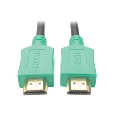 TrippLite P568-003-GN 3ft Hi-Speed HDMI Cable Digital A/V UHD HDMI 4Kx2K M/M Green 3' - HDMI cable - HDMI (M) to HDMI (M) - 3 ft - shielded - green - molded