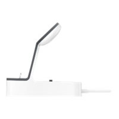 Belkin F8J200TTWHT PowerHouse - Charging stand - 3.4 A - 2 output connectors (Lightning  magnetic) - for Apple iPhone 5  5c  5s  6  6 Plus  6s  6s Plus  7  7 Pl