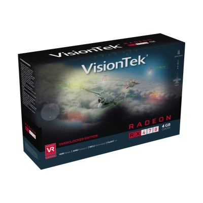 Visiontek 900905 Radeon RX 470 - Overclocked Edition - graphics card - Radeon RX 470 - 4 GB GDDR5 - PCIe 3.0 x16 - HDMI  3 x DisplayPort
