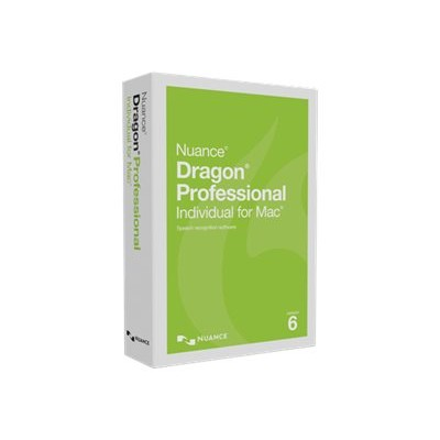 Nuance Communications S601A-F00-6.0 Dragon Professional Individual for Mac - (v. 6) - box pack - 1 user - academic - DVD - Mac - US English