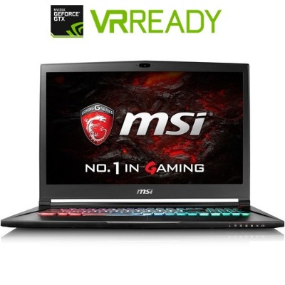 MSI GS73VRSTEALTHPRO-025 GS73VR Stealth Pro-025 Intel Core i7-6700HQ Quad-Core 2.60GHz Gaming Notebook - 16GB RAM 256GB SSD + 1TB HDD 17.3 FHD WVA Gigabit Et