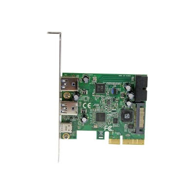 StarTech.com PEXUSB312EIC 5-Port USB 3.1 (10Gbps) Combo Card - 1x USB-C  2x USB-A + 2x IDC (5Gbps) - PCIe USB Host Controller - USB Type-C