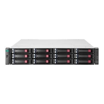 Hewlett Packard Enterprise Q0F05A Modular Smart Array 2042 SAN Dual Controller LFF Storage - Hard drive array - 800 GB - 12 bays (SAS-3) - SSD 400 GB x 2 - 8Gb