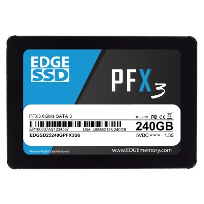 Edge Memory PE250560 240GB 2.5 PFX3 SSD - SATA 6Gb/s