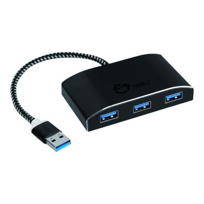 SIIG JU-H40F12-S1 SuperSpeed USB 3.0 4-Port Powered Hub - Hub - 4 x SuperSpeed USB 3.0