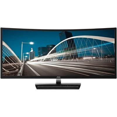 AOC C3583FQ C3583FQ - LCD monitor - 35 - 2560 x 1080 Full HD - A-MVA - 300 cd/m² - 2000:1 - 4 ms - 2xHDMI  DVI-D  VGA  2xDisplayPort - speakers - black  silver