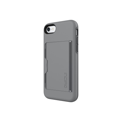 Incipio IPH-1477-GYC Stowaway Credit Card Case with Integrated Stand for iPhone 7 - Gray/Charcoal