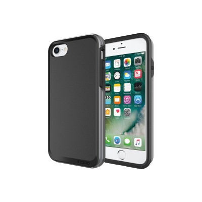 Incipio IPH-1489-BKG PERFORMANCE Ultra - Back cover for cell phone - gray  black - for Apple iPhone 7