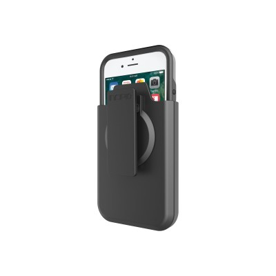 Incipio IPH-1517-BKG PERFORMANCE Ultra - Back cover for cell phone - gray  black - for Apple iPhone 7