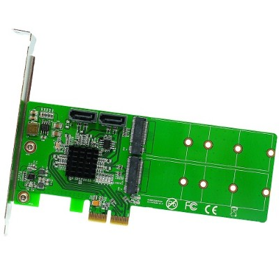 Syba Multimedia SI-PEX50102 M.2 + SATA to PCI-e x2 Hardware RAID Card (B or B+M Key)