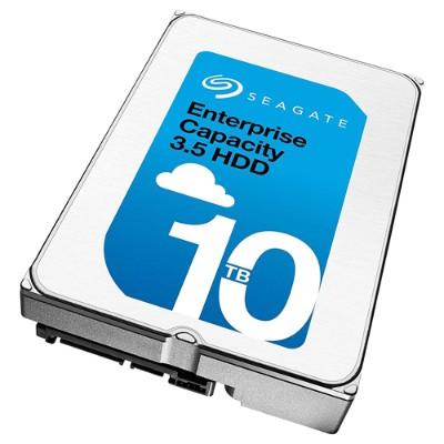 Seagate ST10000NM0206 Enterprise Capacity 3.5 HDD V.6 (Helium) ST10000NM0206 - Hard drive - 10 TB - internal - 3.5 - SAS 12Gb/s - 7200 rpm - buffer: 256 MB