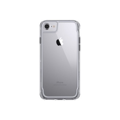 Griffin GB42314 Survivor Clear - Back cover for cell phone - polycarbonate  thermoplastic polyurethane - space gray - for Apple iPhone 6  6s  7