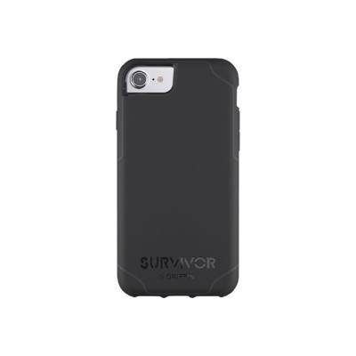 Griffin GB42765 Survivor Journey - Back cover for cell phone - rugged - polycarbonate  thermoplastic polyurethane - black  dark gray - for Apple iPhone 6  6s  7