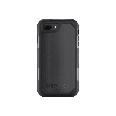 Griffin GB42824 Survivor Summit - Protective case for cell phone - rugged - silicone  polycarbonate  thermoplastic elastomer (TPE) - black/black - for Apple iPh