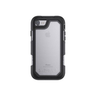 Griffin GB42787 Survivor Summit - Protective case for cell phone - rugged - silicone  polycarbonate  thermoplastic elastomer (TPE) - black/clear - for Apple iPh