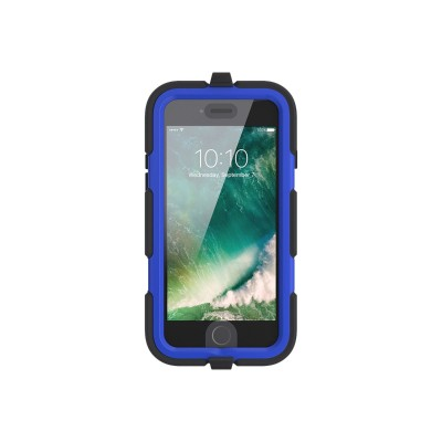 Griffin GB42763 Survivor All-Terrain - Protective case for cell phone - rugged - silicone  polycarbonate  PET - black/blue - for Apple iPhone 7