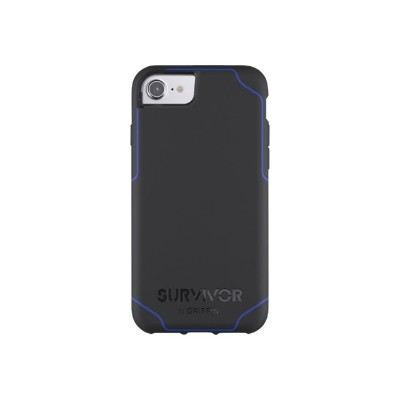 Griffin GB42817 Survivor Journey - Back cover for cell phone - polycarbonate  thermoplastic polyurethane - black/blue - for Apple iPhone 6 Plus  6s Plus  7 Plus