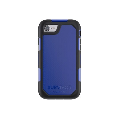 Griffin GB42786 Survivor Summit - Protective case for cell phone - rugged - silicone  polycarbonate  thermoplastic elastomer (TPE) - black/blue - for Apple iPho