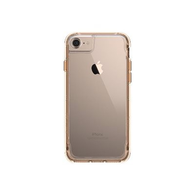 Griffin GB42925 Survivor Clear - Back cover for cell phone - polycarbonate  thermoplastic polyurethane - gold - for Apple iPhone 6  6s  7