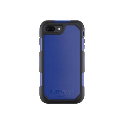 Griffin GB42826 Survivor Summit - Protective case for cell phone - rugged - silicone  polycarbonate  thermoplastic elastomer (TPE) - black/blue - for Apple iPho